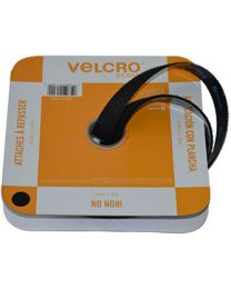 "Velcro® Brand IRON ON Fasteners for Fabrics - 3/4"" X 15' Black"