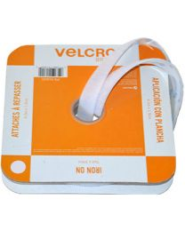 "Velcro® Brand IRON ON Fasteners for Fabrics - 3/4 "" X 15' White"